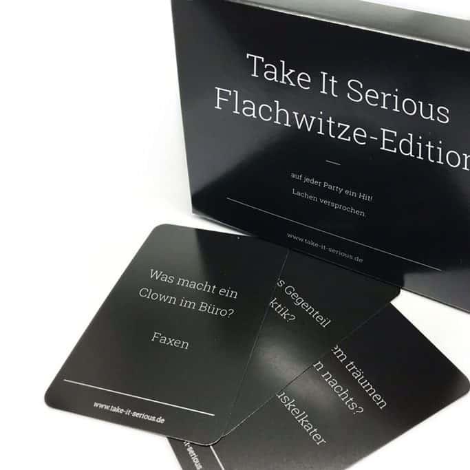 Take It Serious - Flachwitze Edition (mit 100 lustigen Flachwitzen!)