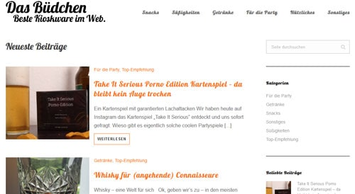 Screenshot: Website das Büdchen
